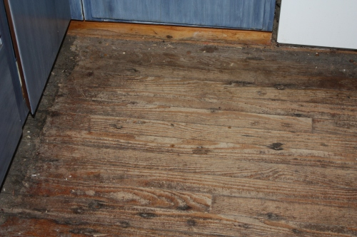 The old kitchen floor.