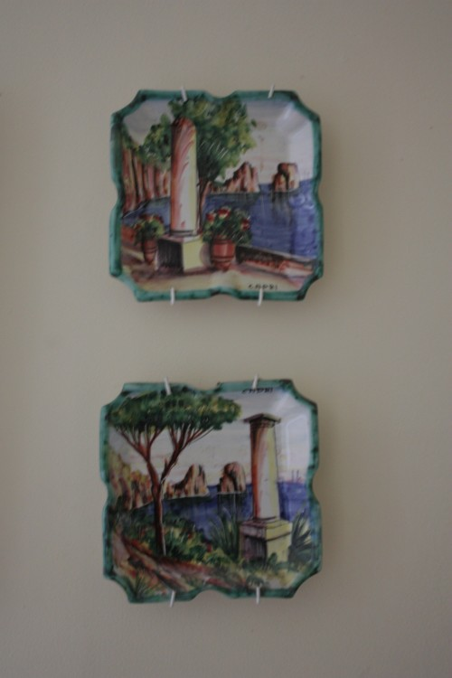 "Plates from Capri - 6"" by 6"""