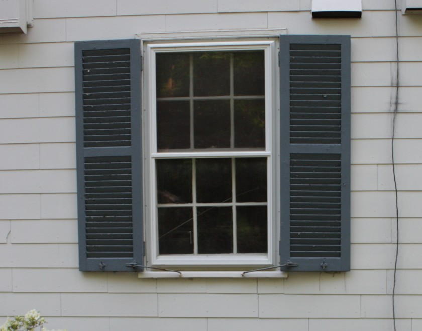 "Shutters on the house are Duron's ""Thunder Grey"""
