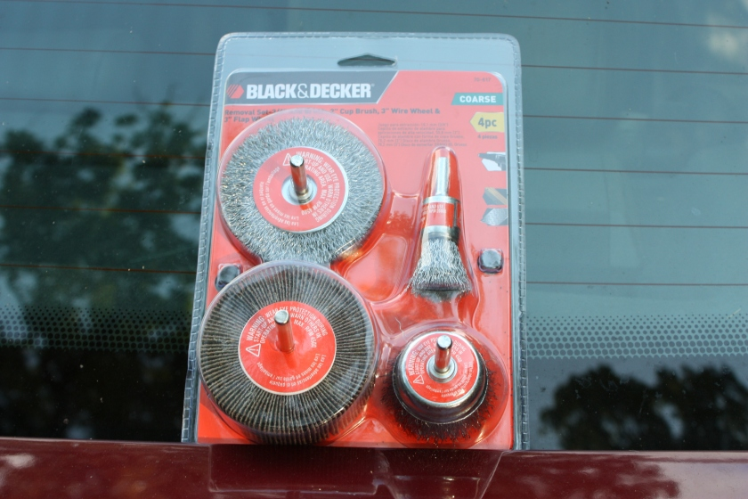 Black and Decker Wire Wheels are great for removing old finish on wood or metal.