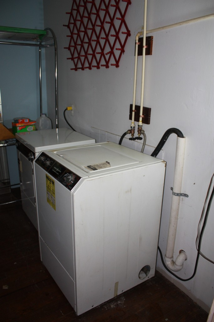 The former washer and dryer were a smaller-than-standard size.