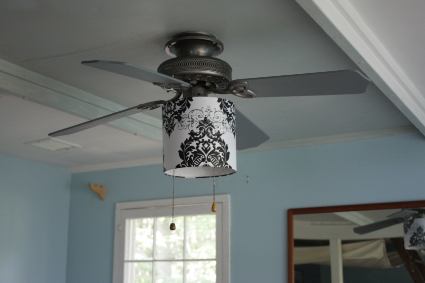The ceiling fan in the Cottage.