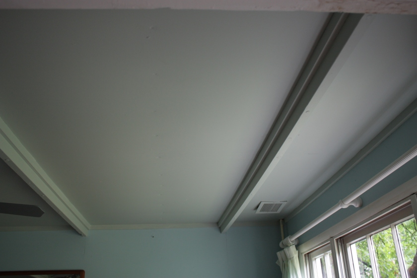 I painted half of the Cottage ceiling back in 2011 and it has held up well.