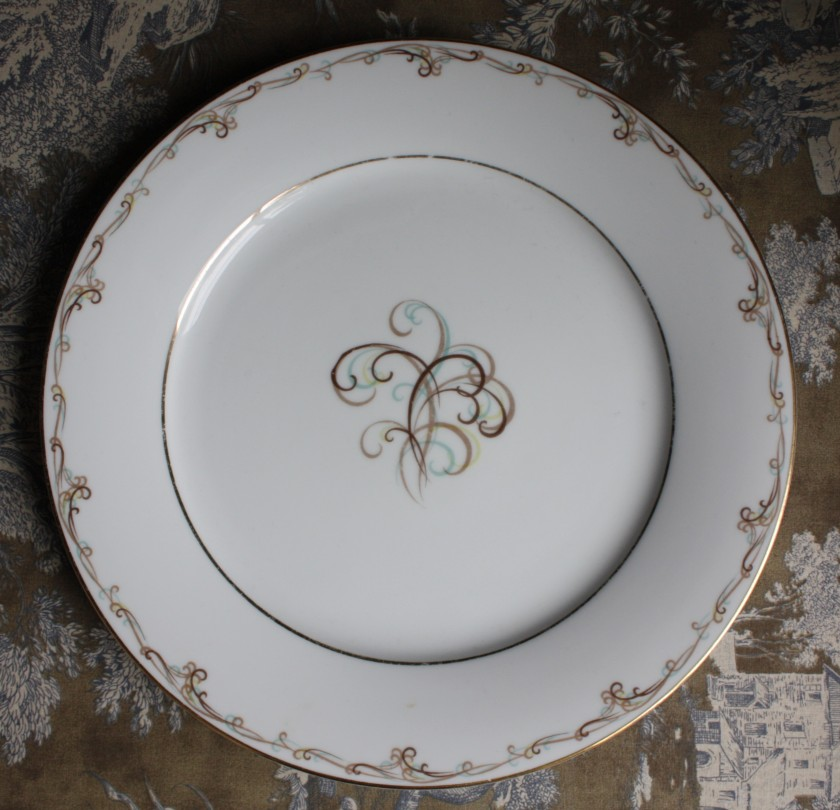 We'll use his great-grandmother's china -- Esteem by Noritake.