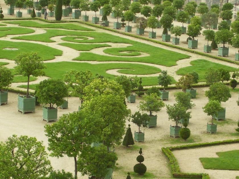 Versailles' planter boxes were originally designed to hold orange trees.