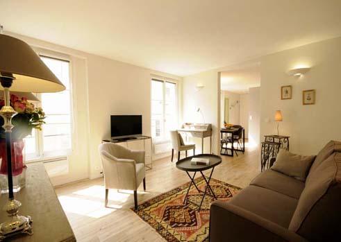 """Living room of """"Marais Saintonge"""" in Paris"""