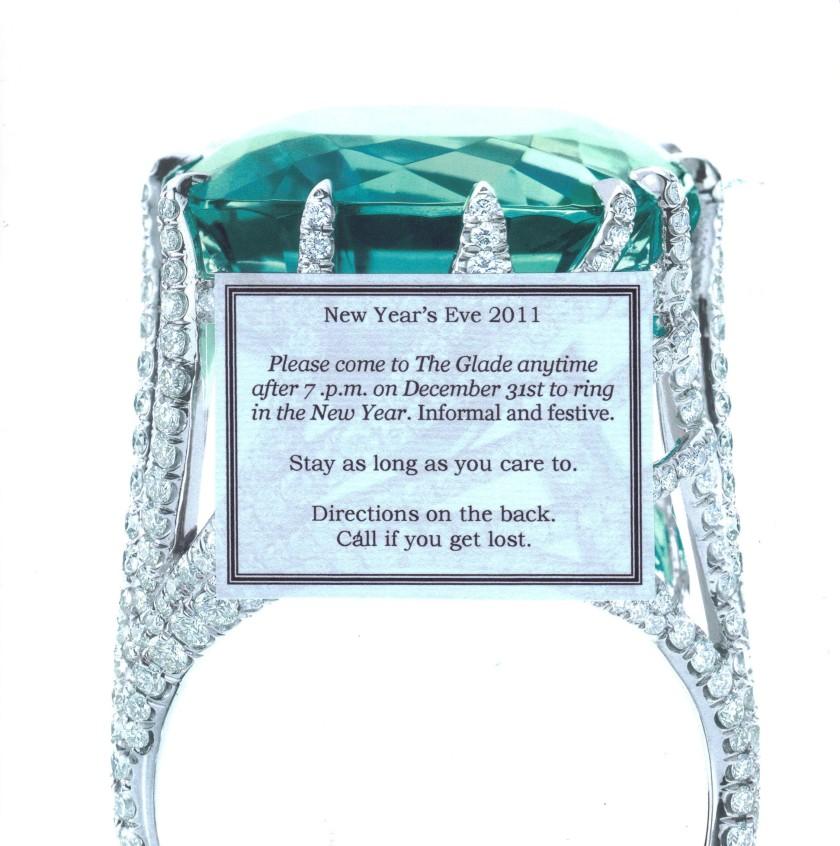 Tiffany inspired invitation.