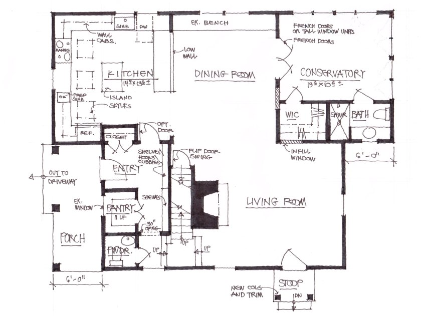 A combination of this plan and number was used to create the new additions.