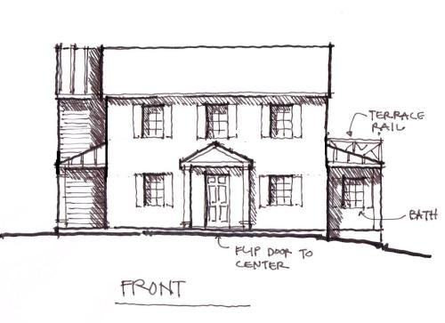 A sketch of proposed changes to the front of The Glade.