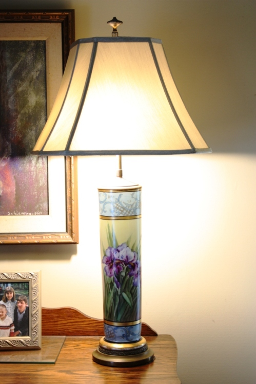 We have a pair of these iris lamps.