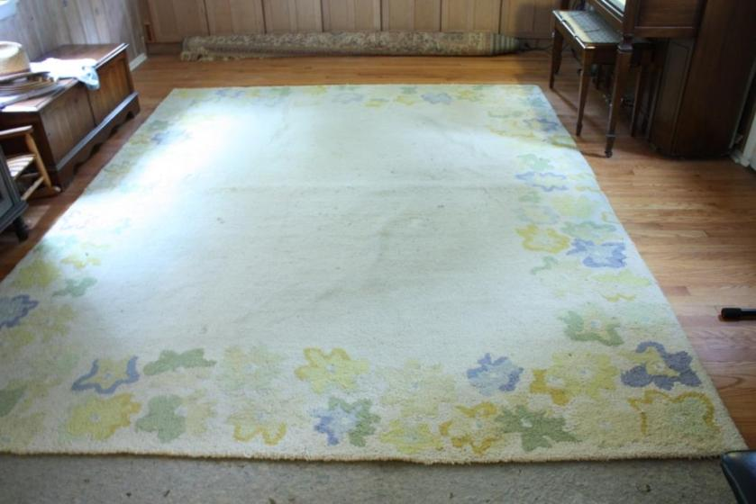 I had previously cleaned this rug in 2012 when we started using it in the dining room.