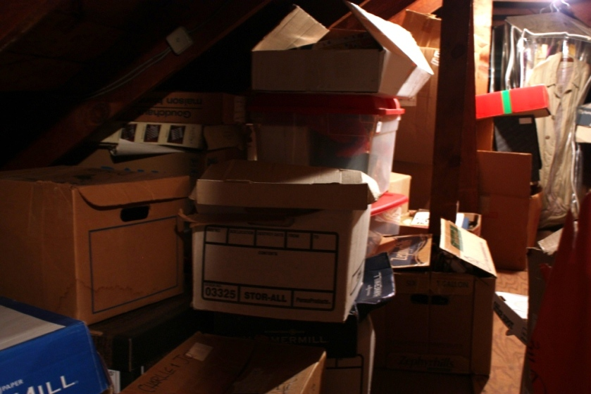 The attic is overdue for a major tidying.