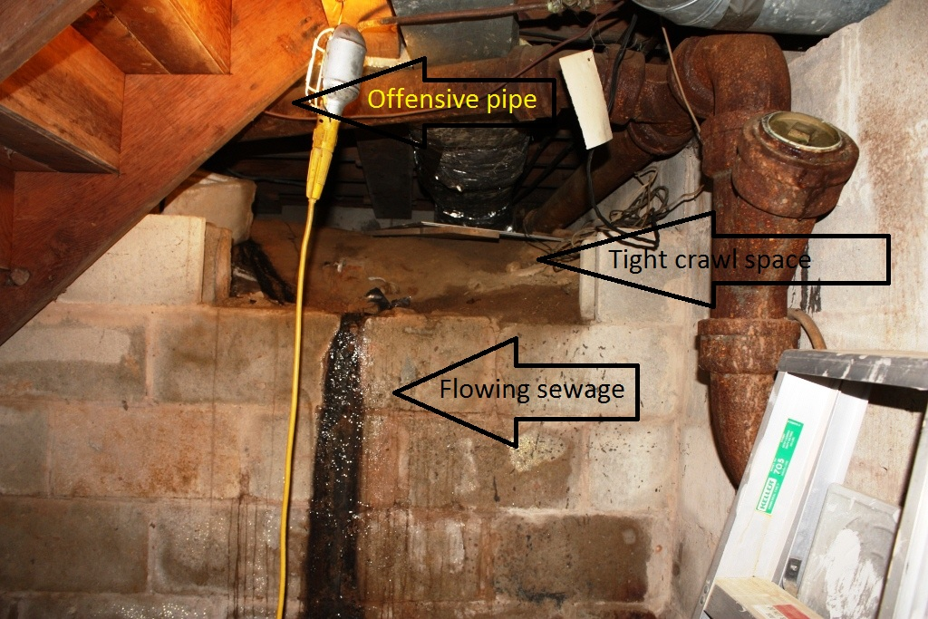 What is that stinking smell let 39 s face the music for Convert crawlspace to basement cost