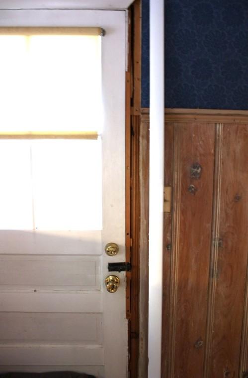 Former back door now in storage.