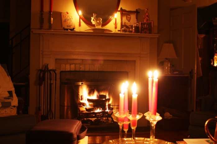 Image result for room lit by fire