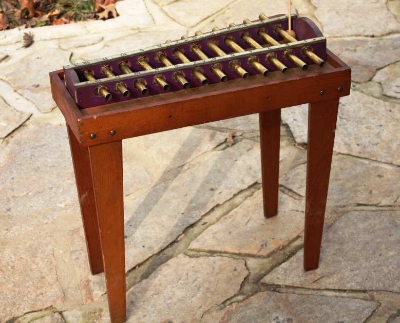 The xylophone stands about the right height for our soon-to-be 4 grandson.
