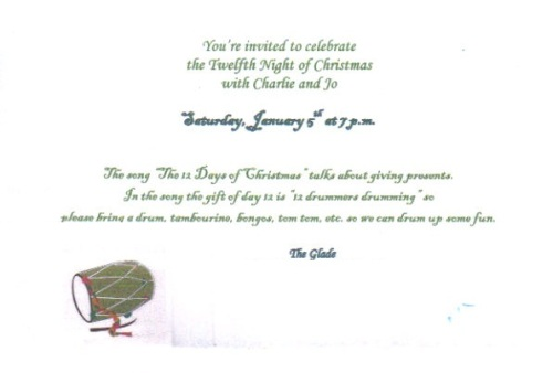 Time, place, theme and purpose are all included on the front of the invitation.