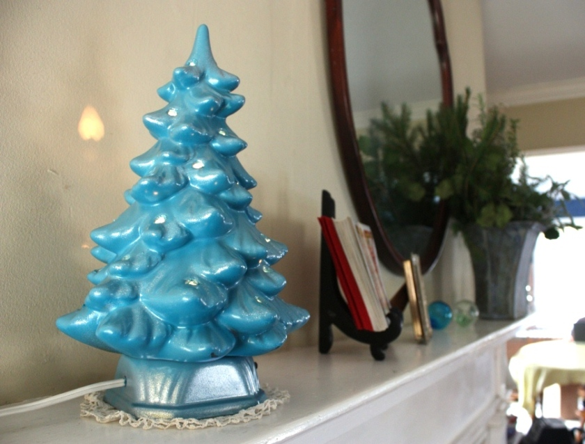 A tiny electrified ceramic tree.