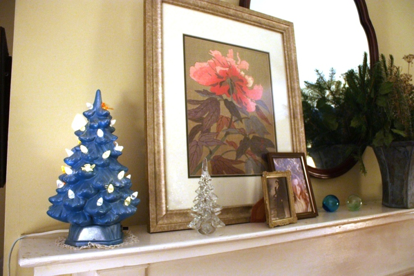 The mantel will need some Christmas style, too.