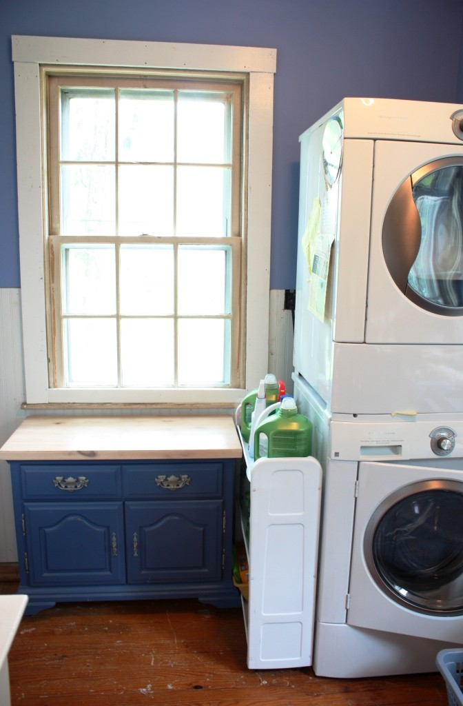 Our laundry room is on the second floor.