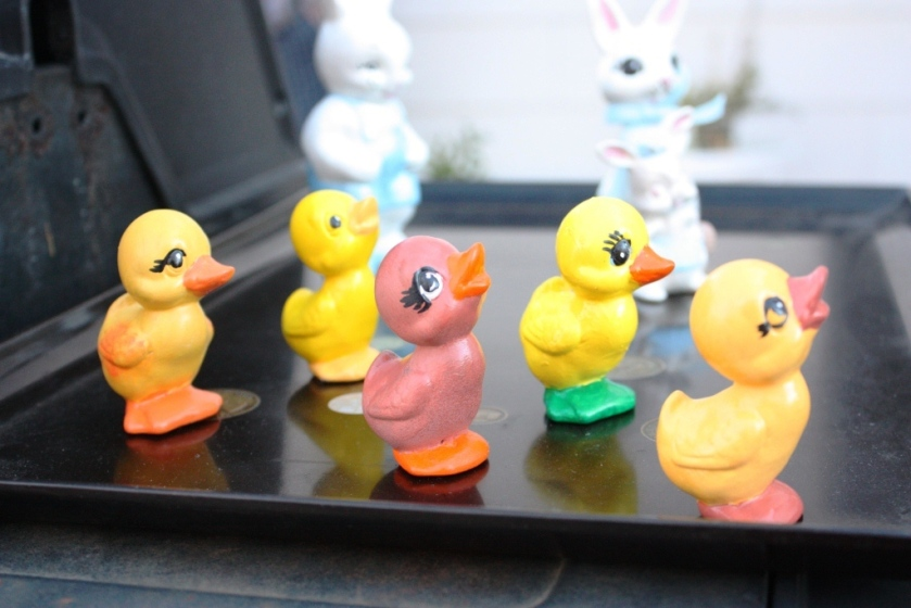 5 little ducklings and 3 pearlized bunnies