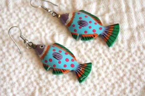 My well-worn fish earrings.