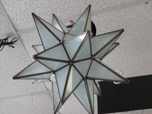 This large star fixture was about a foot in diameter point to point.
