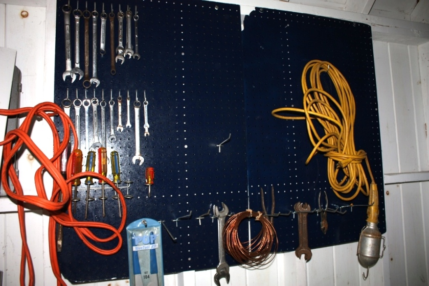 Peg boards can hold a large variety of items.