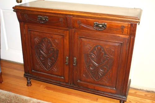 We transformed this sideboard into a kitchen island.