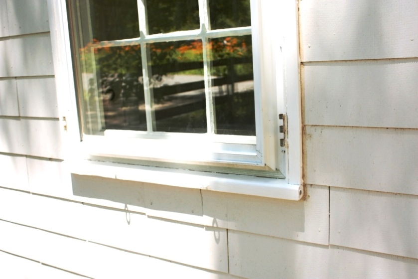 We know this is window #10 by the small brass brad on the lower corner of the trim.