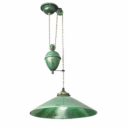 French Rise and Fall Pendant Lamp