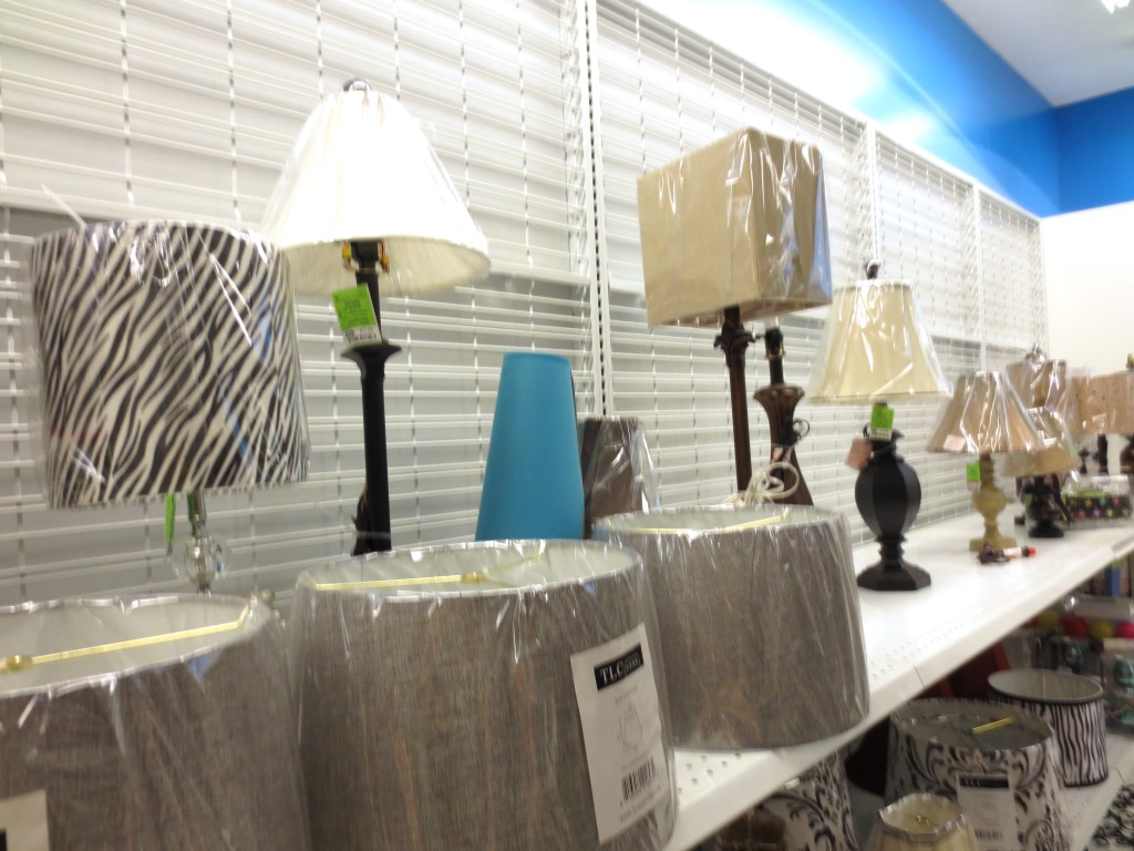 Ross Had A Variety Of Small Lamps And Shades.