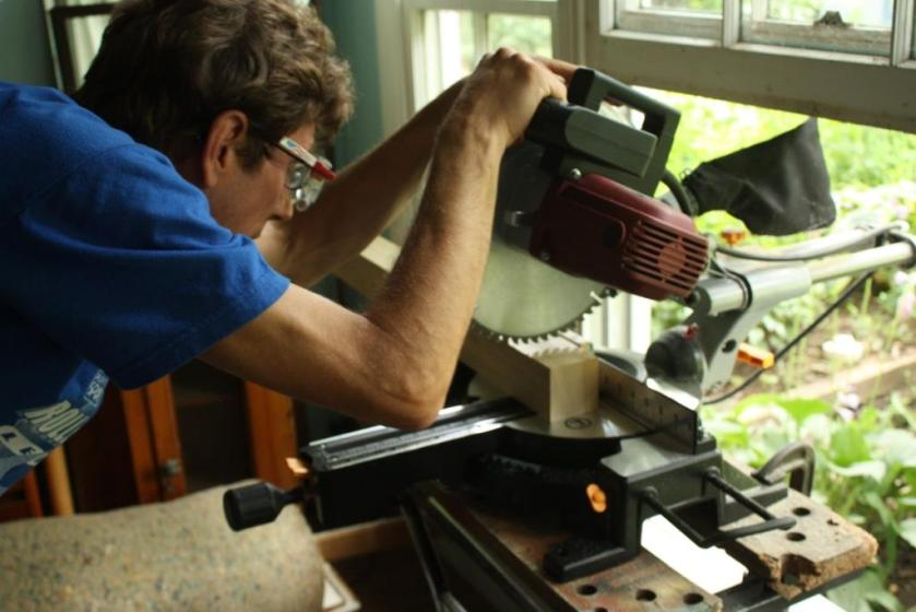 The miter saw comes in handy for all sorts of jobs.
