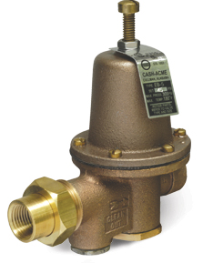 water pressure regulating valve by cash acme. Black Bedroom Furniture Sets. Home Design Ideas