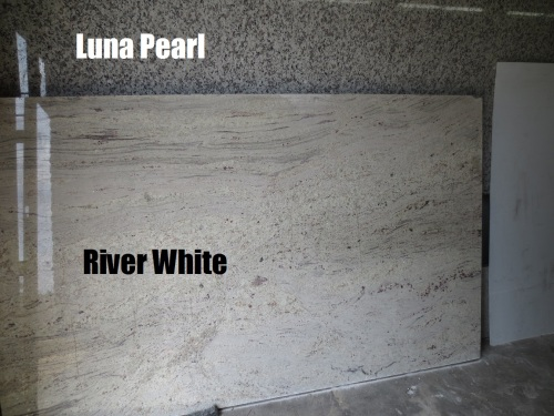 We chose a section of the River White granite for the island top.