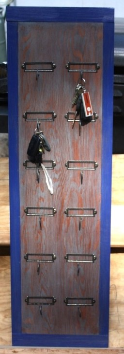 Key rack for the new mudroom.
