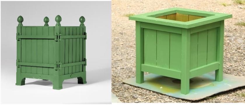 The inspirational Versailles planter and my planter.