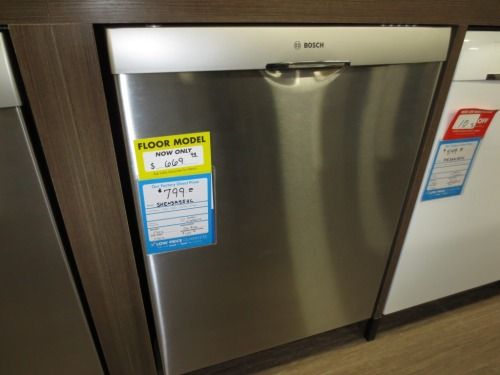 A Bosch dishwasher similar to the one we bought.