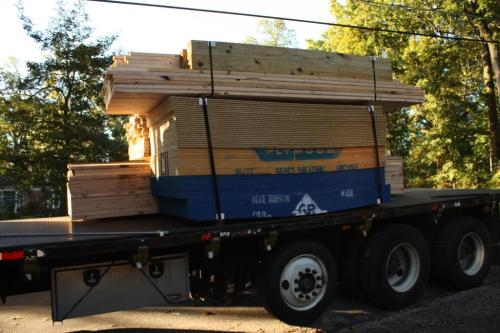 All of our framing lumber came in one large delivery.