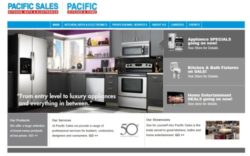 Pacific Sales is a wholly owned subsidiary of Best Buy.  They offer high to mid range appliances as well as an assortment of home electronics and other home improvement products.