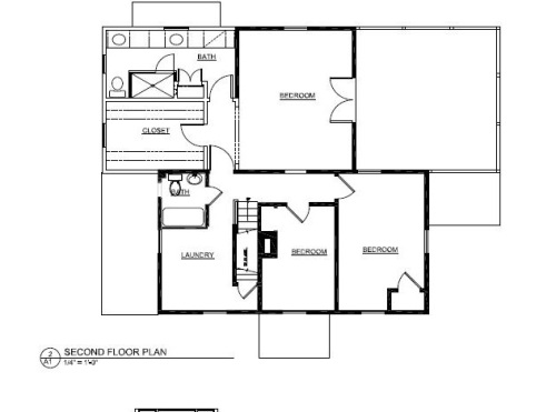 We use the attic over the 3 rooms toward the bottom of the picture above.  It is accessed by steps in the laundry room.