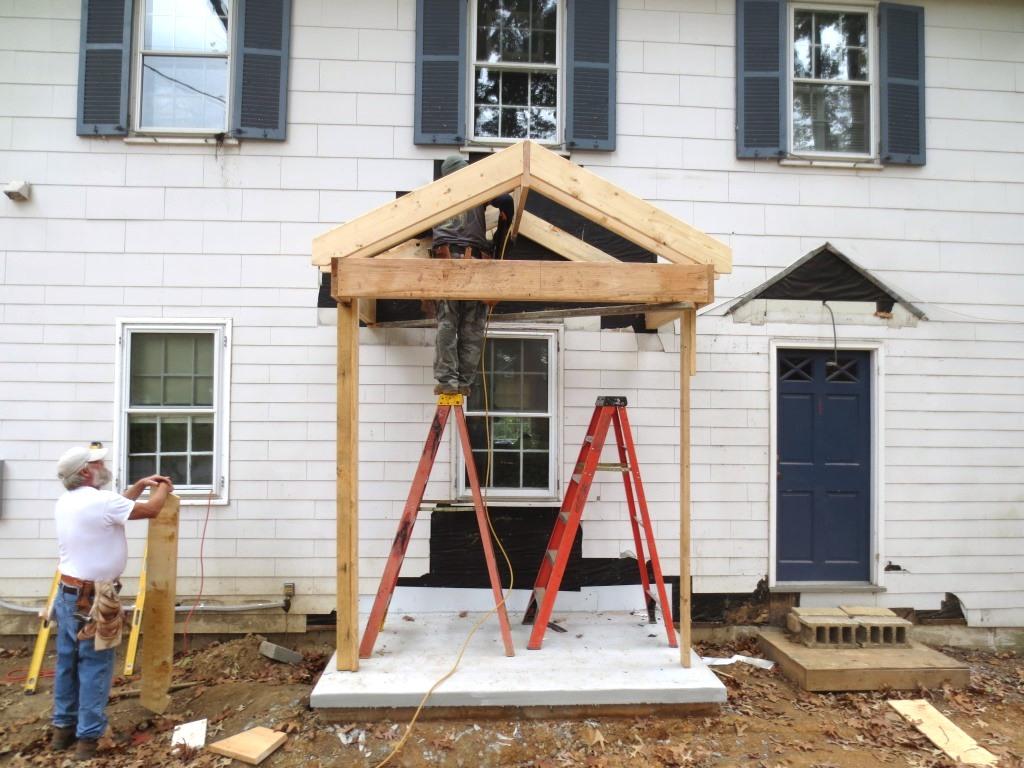 Front stoop rock | Design & Construction of Spartan ... |Wood Stoop Construction Ideas