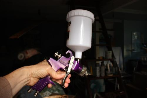 I simple hand-held paint sprayer is not difficult to use and maintain.