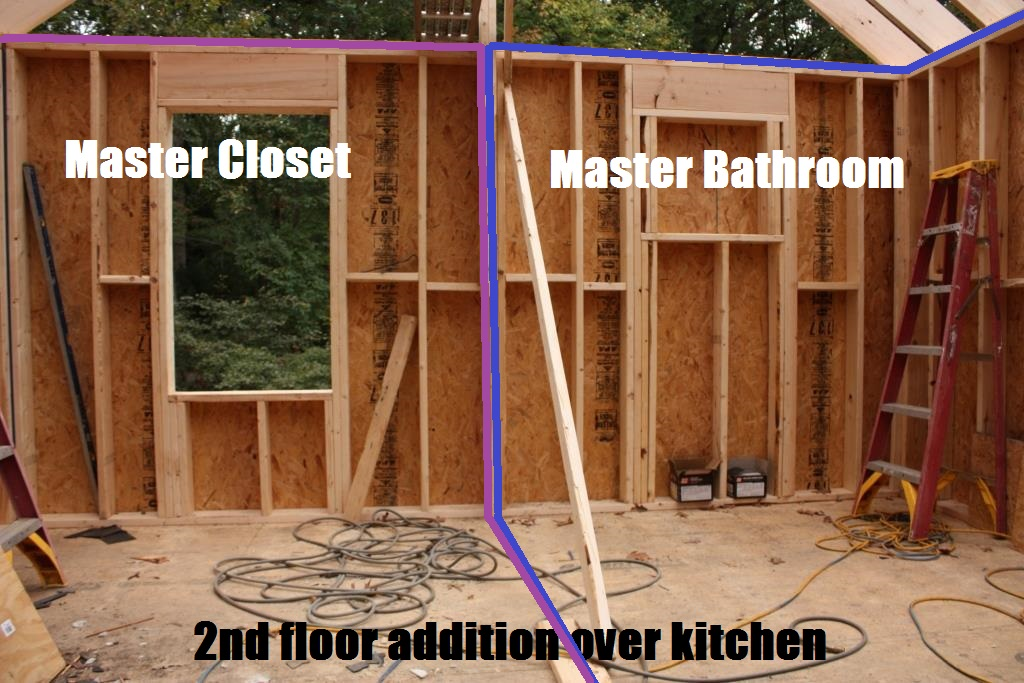 Interior decisions for framing and such part two let 39 s for Framing a second floor addition