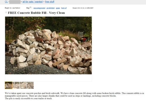 Our ad on Craigslist has elicited some interest.