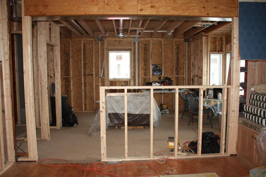 This Is The Basic Framing Of Wall Between Dining Room And Kitchen