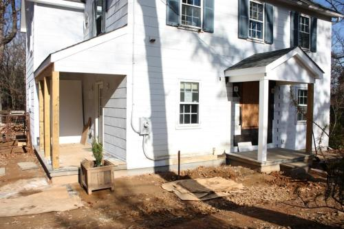 The front, back and side yards near the house need to be landscaped.