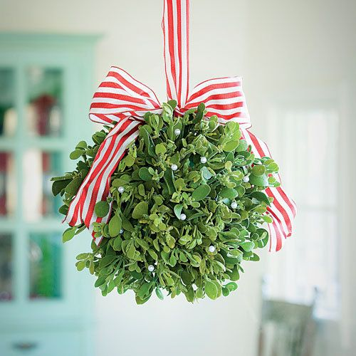 I should order these mistletoe kissing balls from Etsy.