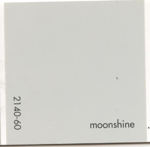 Benjamin Moore's Moonshine for the upstairs hall.