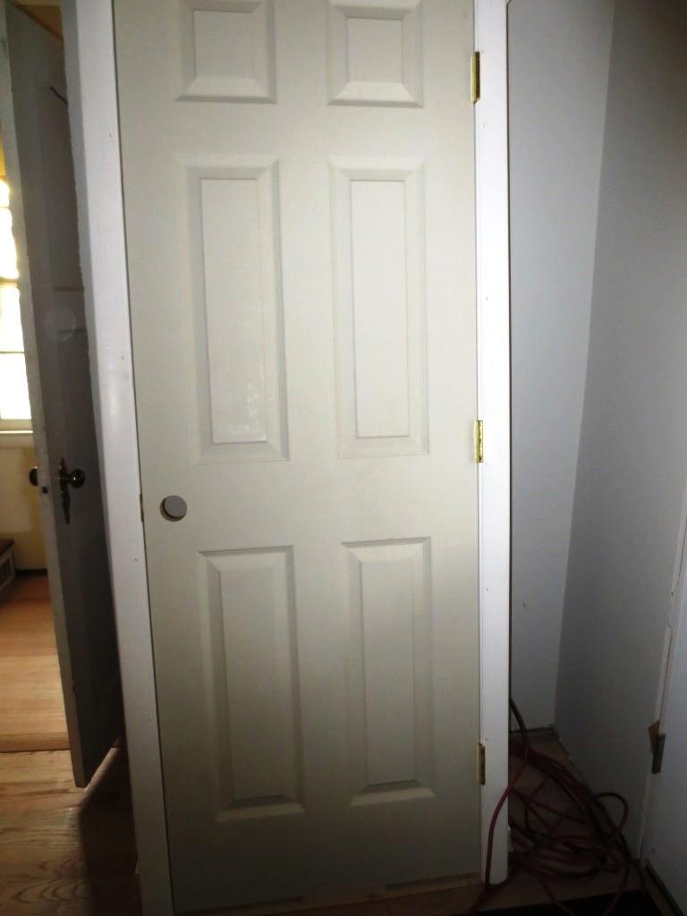 A new 6-panel door.